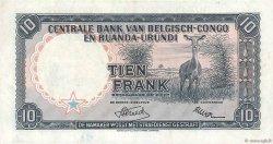 10 Francs CONGO BELGE  1955 P.30a SUP
