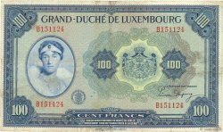 100 Francs LUXEMBOURG  1944 P.47 TB