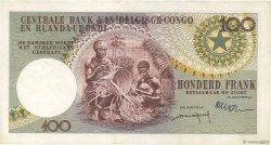 100 Francs CONGO BELGE  1960 P.33b TTB+