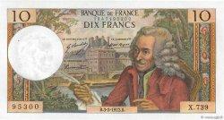 10 Francs VOLTAIRE FRANCE  1972 F.62.54 SPL