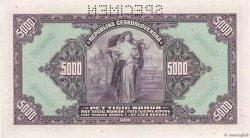 5000 Korun TCHÉCOSLOVAQUIE  1920 P.019s NEUF