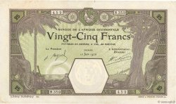 25 Francs DAKAR AFRIQUE OCCIDENTALE FRANÇAISE (1895-1958) Dakar 1926 P.07Bc SUP+