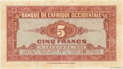 5 Francs AFRIQUE OCCIDENTALE FRANÇAISE (1895-1958)  1942 P.28a pr.NEUF