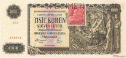 1000 Korun TCHÉCOSLOVAQUIE  1945 P.056s NEUF