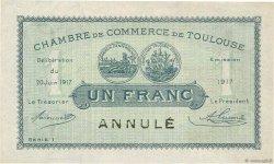 1 Franc FRANCE régionalisme et divers Toulouse 1917 JP.122.28 SUP+