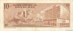 10 Lempiras HONDURAS  1972 P.057 TB