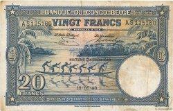 20 Francs CONGO BELGE  1949 P.15G TB+