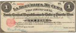1 Peso CUBA  1869 P.061 SUP+