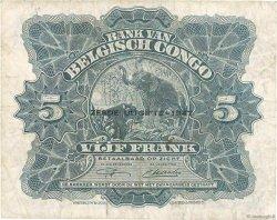 5 Francs CONGO BELGE  1947 P.13Ad TTB