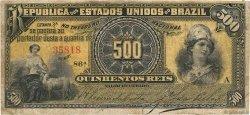 500 Reis BRÉSIL  1893 P.001b TB