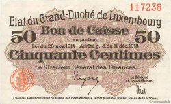 50 Centimes LUXEMBOURG  1919 P.26 SUP