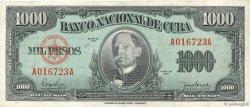 1000 Pesos CUBA  1950 P.084 TTB