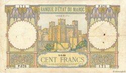 100 Francs type 1928 MAROC  1938 P.20 TB