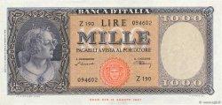 1000 Lire ITALIE  1947 P.083 SUP