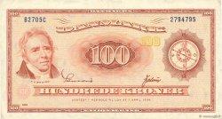 100 Kroner DANEMARK  1970 P.046f TTB