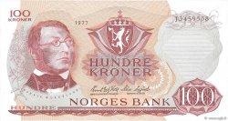 100 Kroner NORVÈGE  1977 P.38h SPL+