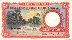 20 Shillings AFRIQUE OCCIDENTALE BRITANNIQUE  1954 P.10a pr.SPL