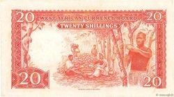 20 Shillings AFRIQUE OCCIDENTALE BRITANNIQUE  1954 P.10a pr.SPL