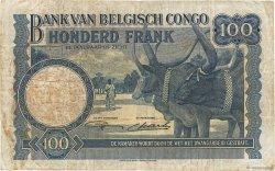 100 Francs CONGO BELGE  1947 P.17c TB