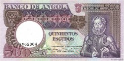 500 Escudos ANGOLA  1973 P.107 SPL