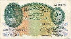 50 Piastres ÉGYPTE  1942 P.021b TTB