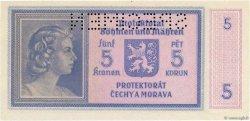 5 Korun BOHÊME ET MORAVIE  1940 P.04s NEUF