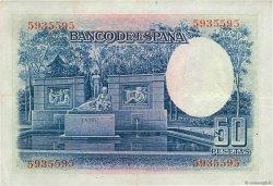 50 Pesetas ESPAGNE  1935 P.088 TTB+