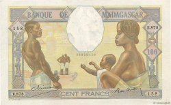 100 Francs MADAGASCAR  1937 P.40 TTB+