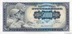 5000 Dinara YOUGOSLAVIE  1963 P.076a pr.NEUF