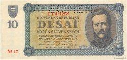 10 Korun SLOVAQUIE  1943 P.06s NEUF