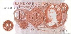 10 Shillings ANGLETERRE  1966 P.373c NEUF