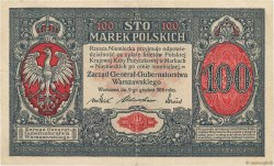 100 Marek POLOGNE  1917 P.015 TTB