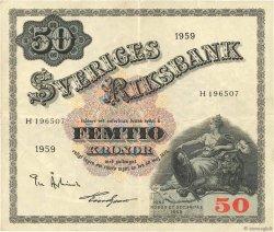 50 Kronor SUÈDE  1959 P.47a TTB