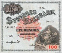 100 Kronor SUÈDE  1958 P.45d TTB+