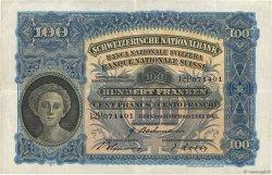 100 Francs SUISSE  1943 P.35q TTB+