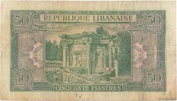 50 Piastres LIBAN  1950 P.43 TB
