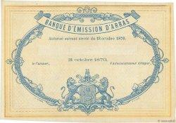 5 Francs FRANCE régionalisme et divers Arras 1870 JER.62.02b SPL