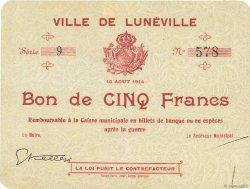 5 Francs FRANCE régionalisme et divers  1914 JPNEC.54.77 SPL