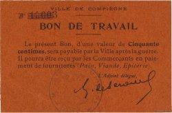 50 Centimes FRANCE régionalisme et divers COMPIÈGNE 1916 JPNEC.60.- SUP