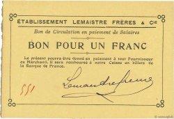 1 Franc FRANCE régionalisme et divers LILLEBONNE 1914 JPNEC.76.142 SPL