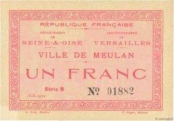 1 Franc FRANCE régionalisme et divers MEULAN 1920 JPNEC.78.37 SUP