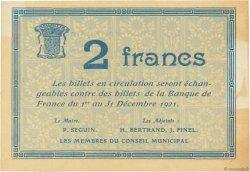 2 Francs FRANCE régionalisme et divers  1920 JPNEC.78.38 SUP