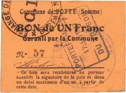 1 Franc FRANCE régionalisme et divers POTTE 1917 JPNEC.80.424 SUP