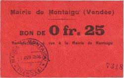 25 Centimes FRANCE régionalisme et divers  1916 JPNEC.85.02 SUP