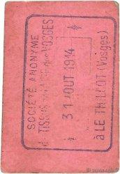 50 Centimes FRANCE régionalisme et divers LE THILLOT 1914 JPNEC.88.107 TTB