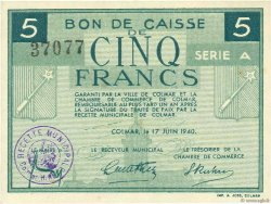 5 Francs FRANCE regionalism and various Colmar 1940 K.014 aUNC