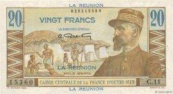20 Francs ÎLE DE LA RÉUNION  1946 P.43a TTB+