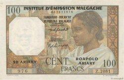 100 Francs - 20 Ariary MADAGASCAR  1961 P.52 pr.SPL