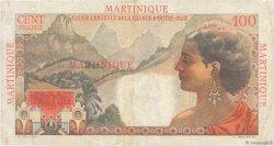 100 Francs La Bourdonnais MARTINIQUE  1946 P.31a TTB