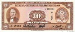 10 Lempiras HONDURAS  1972 P.057 SPL+